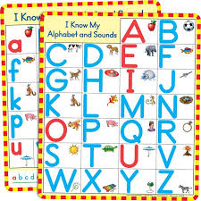 Magnetic Alphabet Charts Set Of 2