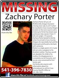Make A Missing Poster ZACHARY PORTER 24 Went Missing From McMinnville Oregon On July 24 13