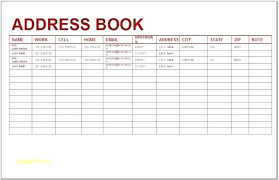 contact spreadsheet template template excel address book template spreadsheet excel address