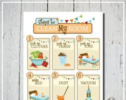 Clean Room Chart Printable Clean My Room Chart Orange Cleaning Chart Printable