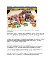 Calam O Tartrazina Aspartame