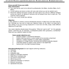 Resume With Objective Cv Cover Letter Sample Of Example Regard To