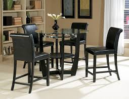 Black finish 5 pc counter height dining set - CA722-36H Finish PC Counter Height Dining Set Caravana Furniture