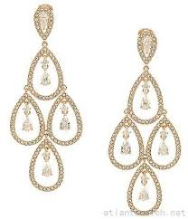 nadri cubic zirconia teardrop chandelier statement earrings 20554837200 rose gold larger image