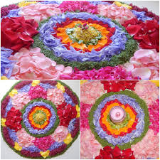 Pookalam Designs Outline Pookalam Flower Rangoli 6 Steps With Pictures