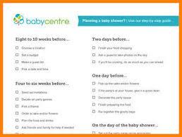 Baby Shower List Baby Shower To Do List Baby Shower Planning