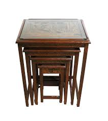 Vintage asian nesting tables