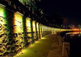 outdoor led wall wash landscape