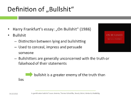 gamification is bullshit waldbillig 4 deiumlnot129ni on of bdquobullshitldquo