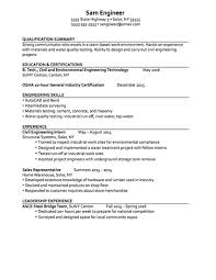 Civil Engineering Technician Resume Unique Career Services Sample Resumes