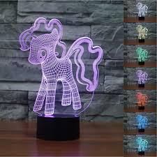 3d Luminaria Lighting Hot Selling My Little Pony Pinkie Pie