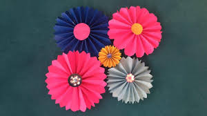 Paper Flower Images Paper Flowers Diy Youtube
