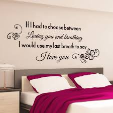 Love Wall Decor Bedroom Removable Pvc Bedroom Wall Posters Sticker English Love Proverb