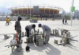 rio s last minute preparations for the olympic games photo essay  workers are still laying bricks in the promenade area around the olympic park photo ryan pierse getty images