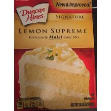 Calories In Moist Cake Mix Lemon Supreme From Duncan Hines