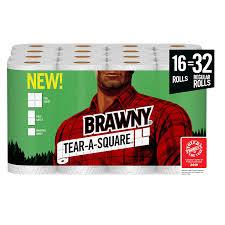 Brawny Tear A Square Paper Towels Quarter Size Sheets 16 32 Regular 21 43 At Amazon