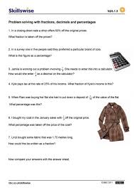 Kindergarten Problem Solving With Fractions, Decimals And ...