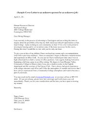 Cover Letter To Unknown Recipient The Letter Sample