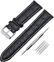 KZKR <b>Waterproof</b> 18mm <b>20mm</b> 22mm Genuine Leather Watch Band ...