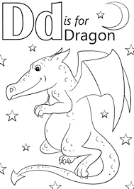 Small Picture Letter D is for Dragon coloring page Free Printable Coloring Pages