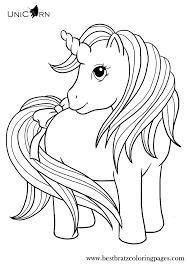 Unicorn Coloring Pages For Kids Bratz