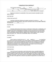 simple construction contract 8 construction contract template considering basic elementaking construction contract template can be a um to