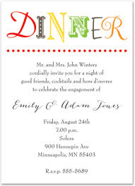 Text Invitations Simplistic Colorful Text Dinner Party Invitations Stationery