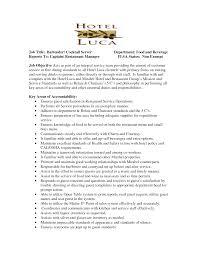Servers Job Description For Resume Server Resume Job Title Bartender Cocktail Server Department Food 18