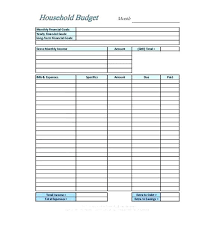 Blank Budget Template Excel Bi Weekly Home Expenses Free Planner