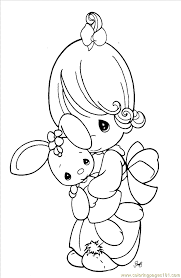 precious moments 1 6 coloring page