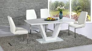 modern white dining table set modern white high gloss glass dining table and 6 chairs modern