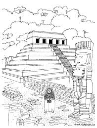 Small Picture Temple aztec Mayans Incas Coloring pages for adults JustColor