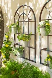 wall planters outdoor wrought iron blogtipsworld com throughout designs 18