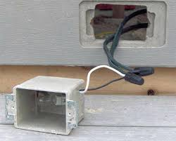 outdoor light fixture junction box no exterior lighting kichler