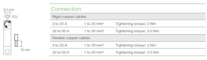 Have You Got The Torque Settings For The Easy9 Mcbs And Rcbos