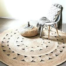 circular jute rug round natural woven runner