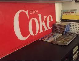 vintage enjoy e coca cola plexiglass advertising sign wall art los angeles