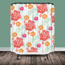 lavender floral shower curtain