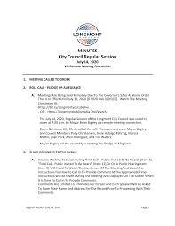 MINUTES City Council Regular Session