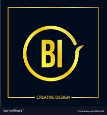 Bi Logo Design Initial Letter Bi Logo Template Design