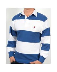 80s casuals treviso rugby shirt white royal blue retro top