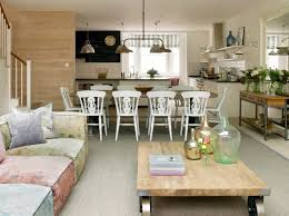 shabby chic kitchen ideas and chalkboard wall in transitional family room design ideas with square coffee