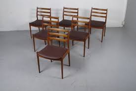 model 191 dining chairs by arne vodder for cado 1965 set of 6 2