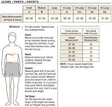 Carhartt Mens Pants Size Chart With Regard To Mens Pant