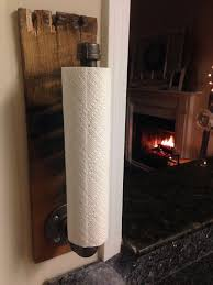 rustic industrial towel holder kitchen bathroom accessories paper towel rack