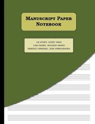 Manuscript Paper Notebook 12 Staff 12 Staves Per Page 100 Numbered Pages Perfect Binding Music Paper Notebook Size 8 5 X 11 Inches