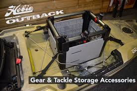 gear and tackle storage accessories for the hobie outback
