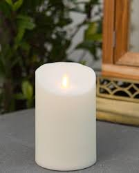 ... 5in Outdoor Miracle Flame LED Pillar Candle by Balsam Hill ...