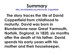 david copperfield story summary english mr rinka lesson david  english mr rinka lesson david copperfield by charles 5 summary