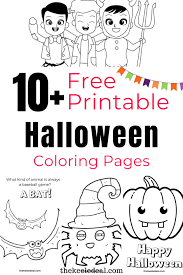 These halloween coloring pages printable are an excellent way to keep your children busy while you are preparing dinner for the guests. The Best Halloween Coloring Page Free Printables The Keele Deal